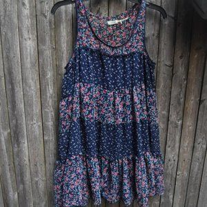 Kimchi Blue Tiered Ruffle Floral Tunic Dress S